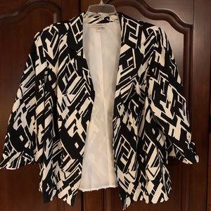 Black & White lined jacket